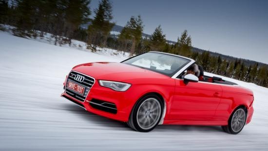 Тест-Драйв  Audi S3 кабриолет в зимнее время года